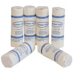 White Open Weave Bandages - Pack of 6 (7.5cmx5m)