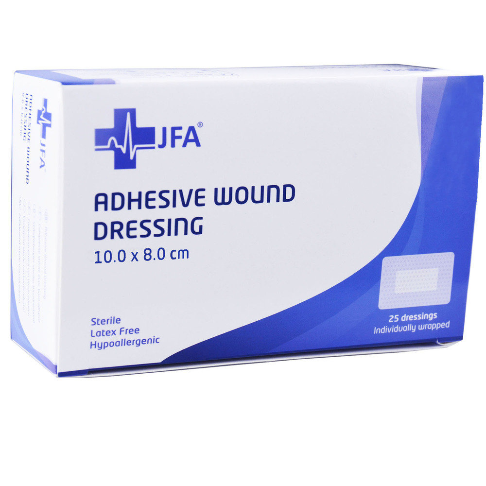 Adhesive Sterile Wound Dressings - Pack of 25 (80mmx100mm)
