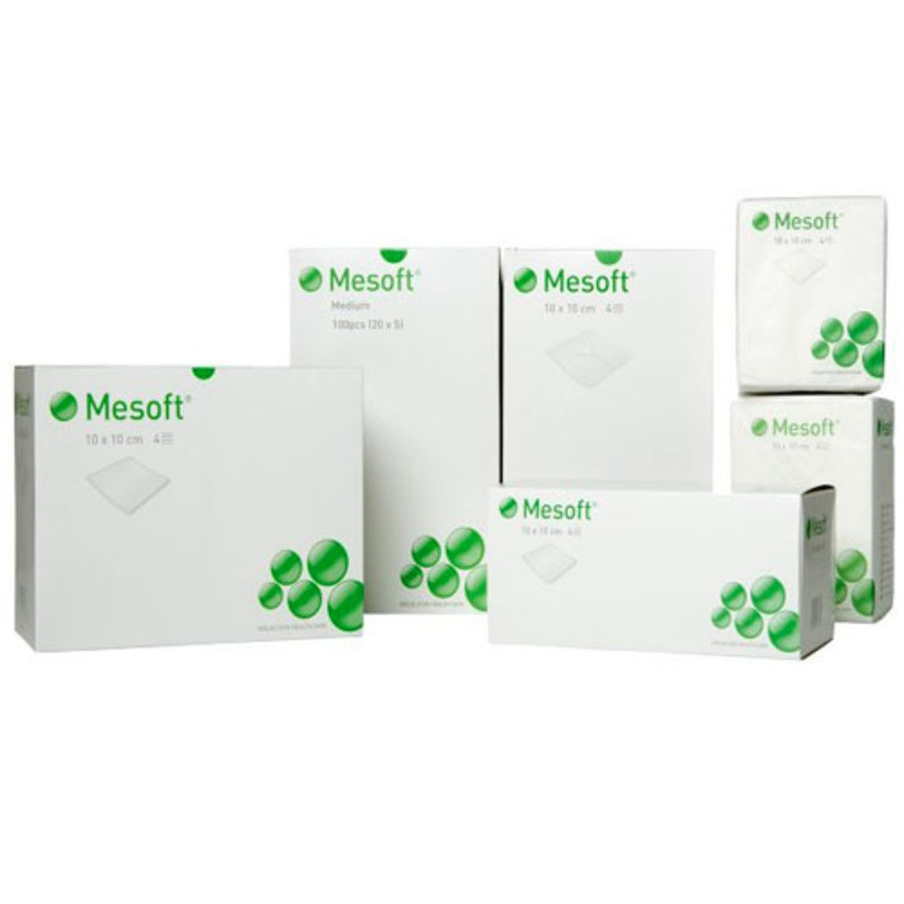 Mesoft Non Sterile Gauze Swabs 10cm x 10cm - Pack of 100