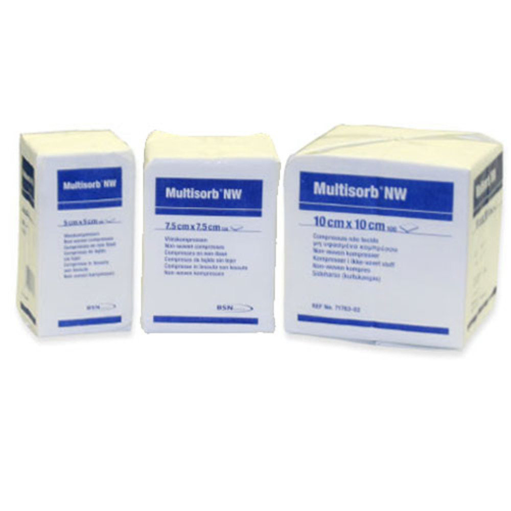 Multisorb Sterile Non-Woven Swabs 5cm x 5cm  - Pack of 250