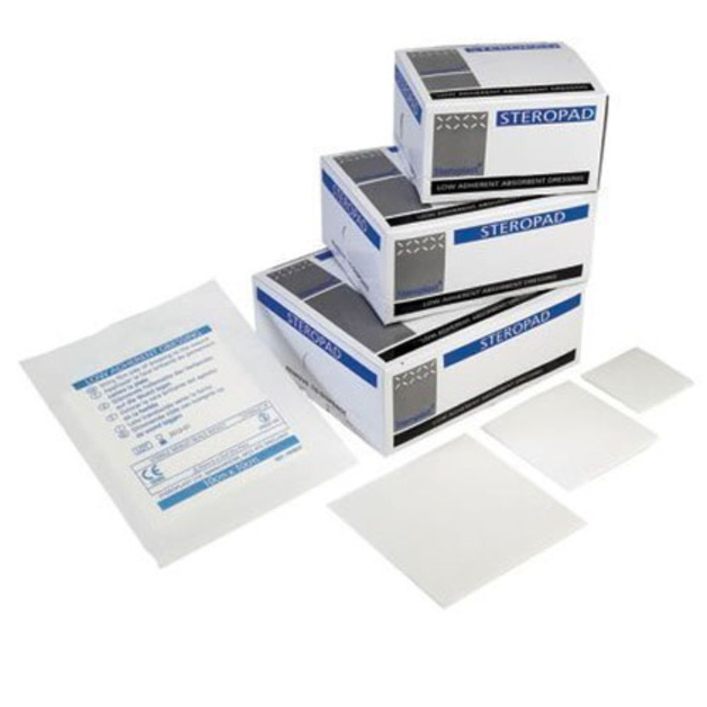 Steroplast Double Sided Low-adherent Pad 10cm x 20cm - Pack of 25