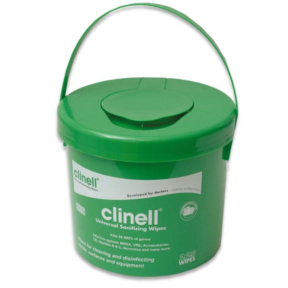 Clinell Universal Sanitising Wipes - Bucket of 225