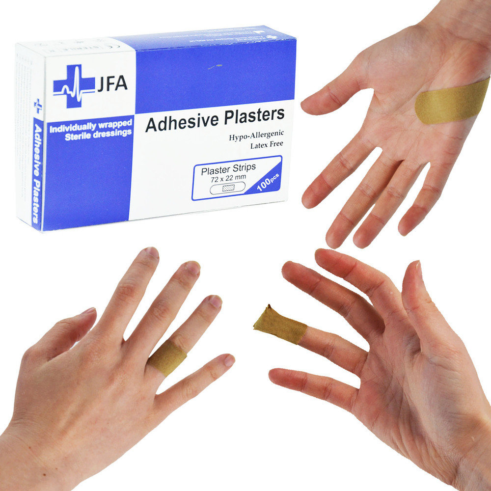 JFA Fabric Large Strip Plasters 22x72mm 100 Plasters per pack