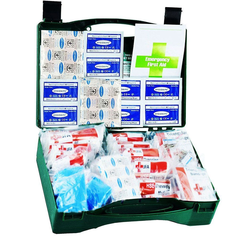 JFA Medical 50 Person HSE Compliant Workplace First Aid Kit in standard case