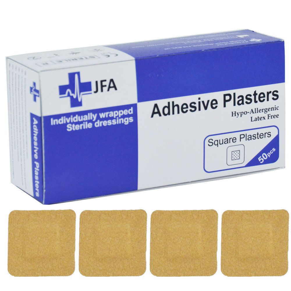 JFA Medical Square Fabric Plasters - 50 per pack