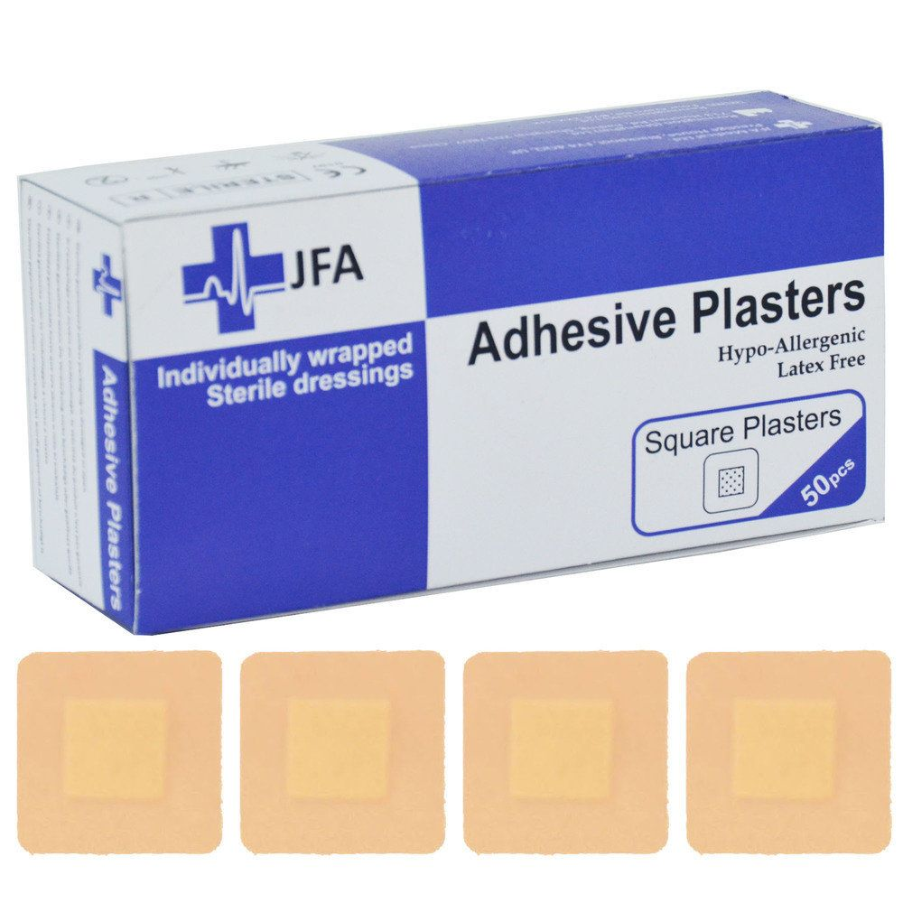 JFA Medical Square Washproof Plasters - 50 per pack