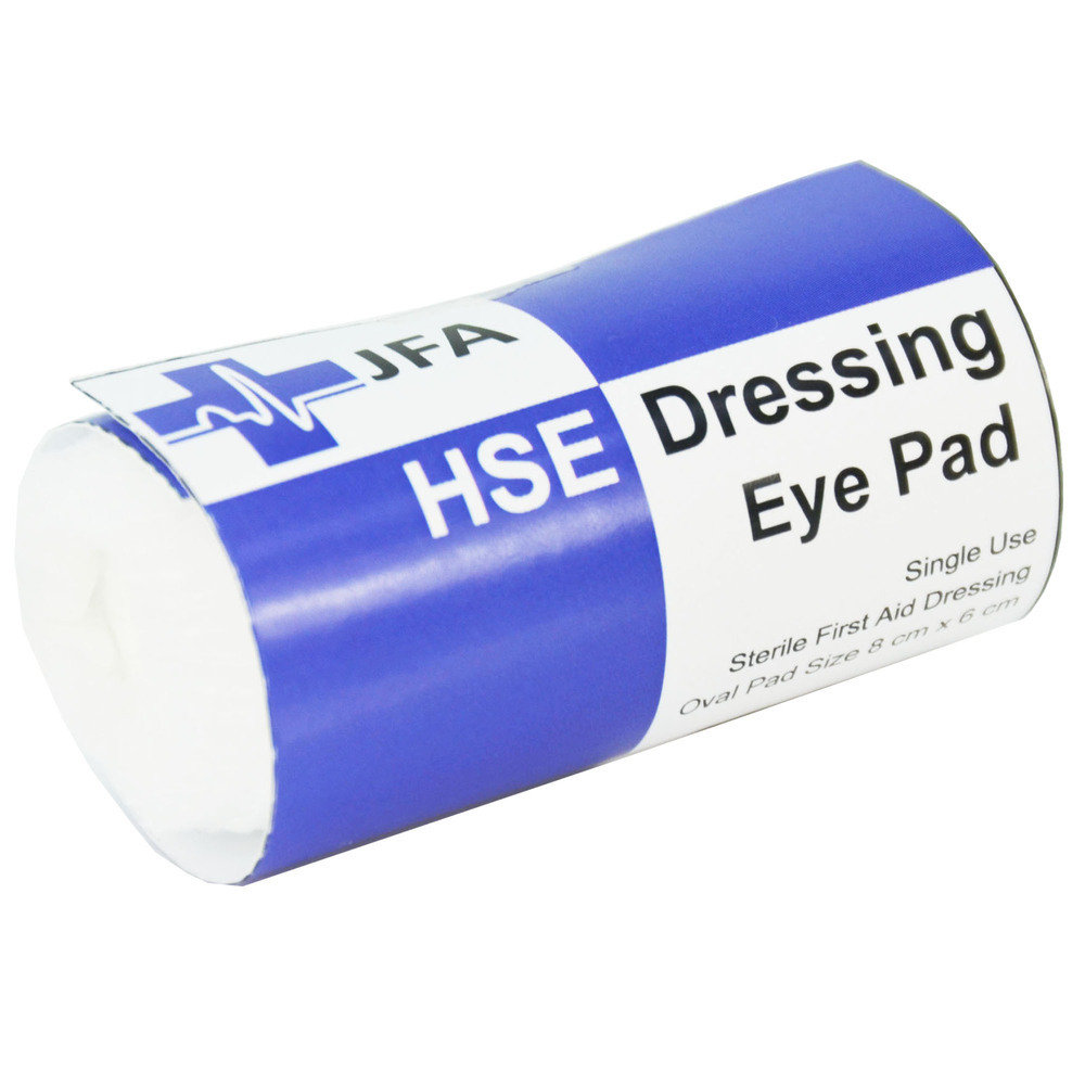 JFA Small HSE Eye pad dressing 8x6cm