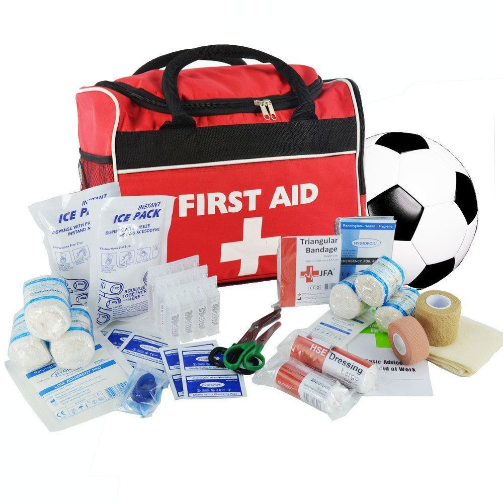 SportPro Football First Aid Kit in Large JFA Red Bag