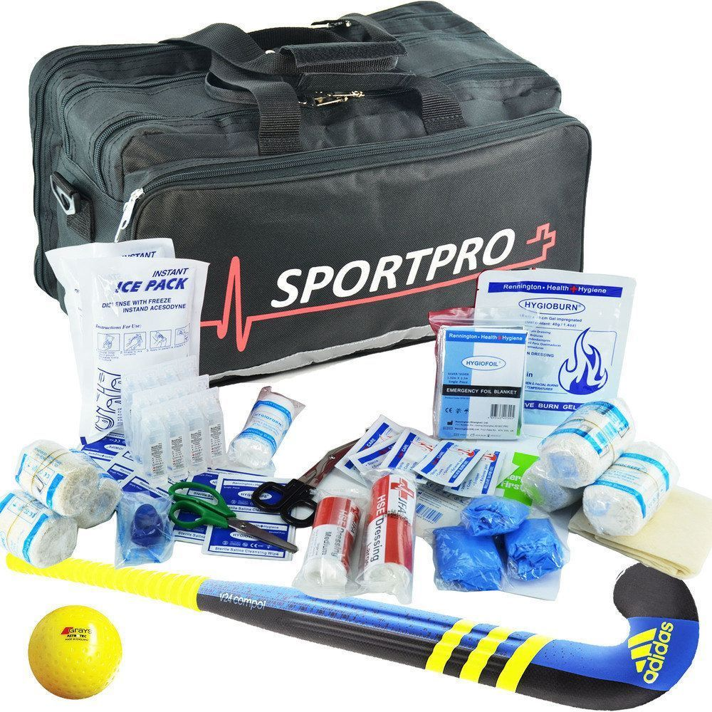 SportPro Hockey First Aid Kit in Large SportPro Black Bag