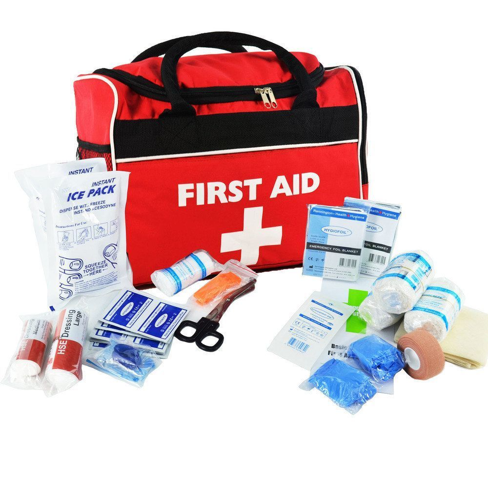 SportPro Swimming & Watersports First Aid Kit in Large Red 'Run On' Bag