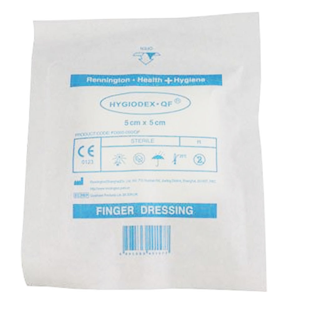 Standard Sterile HSE Finger Dressing 5cm x 5cm - Pack of 6