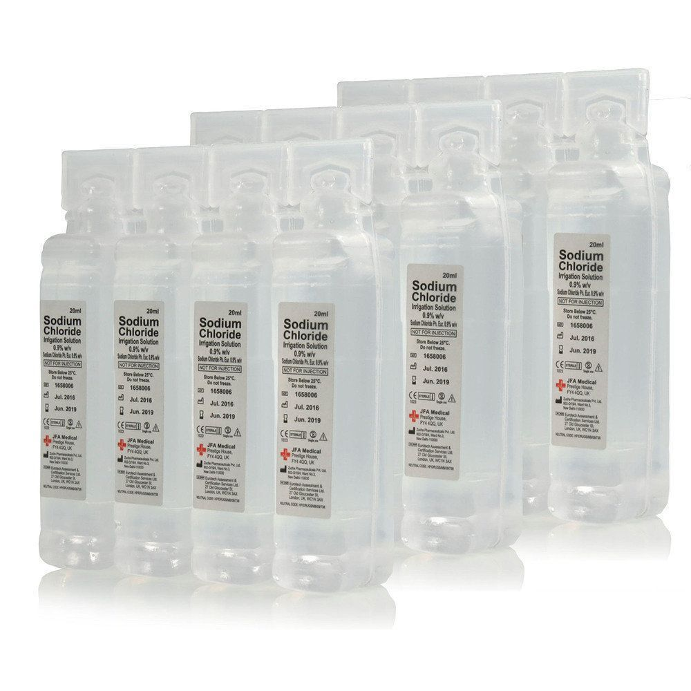 Sterile Saline Eye Wash and Wound Pods - Box of 32