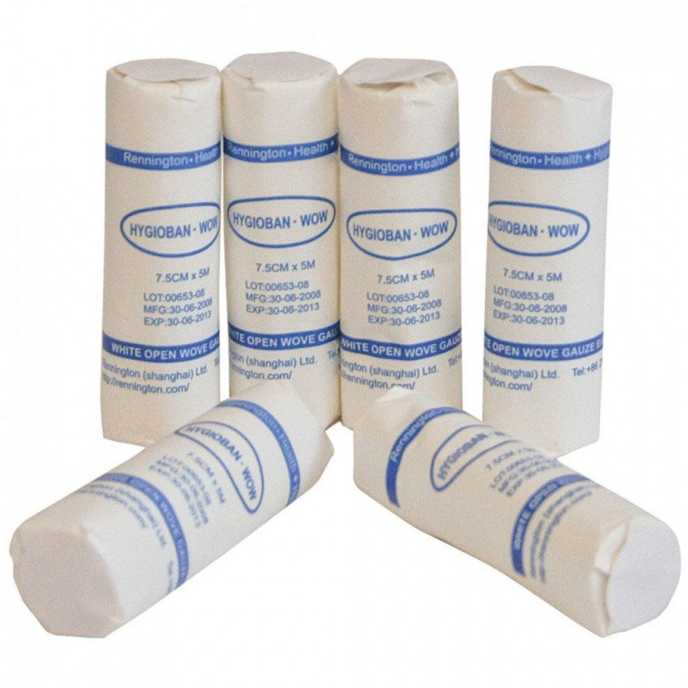 White Open Weave Bandages - Pack of 6 (5cmx5m)