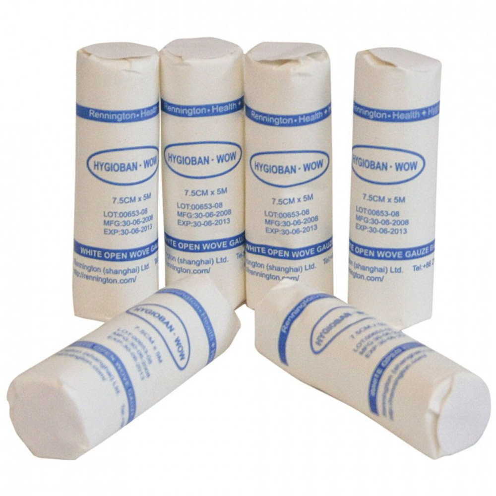 White Open Weave Bandages - Pack of 24 (7.5cmx5m)